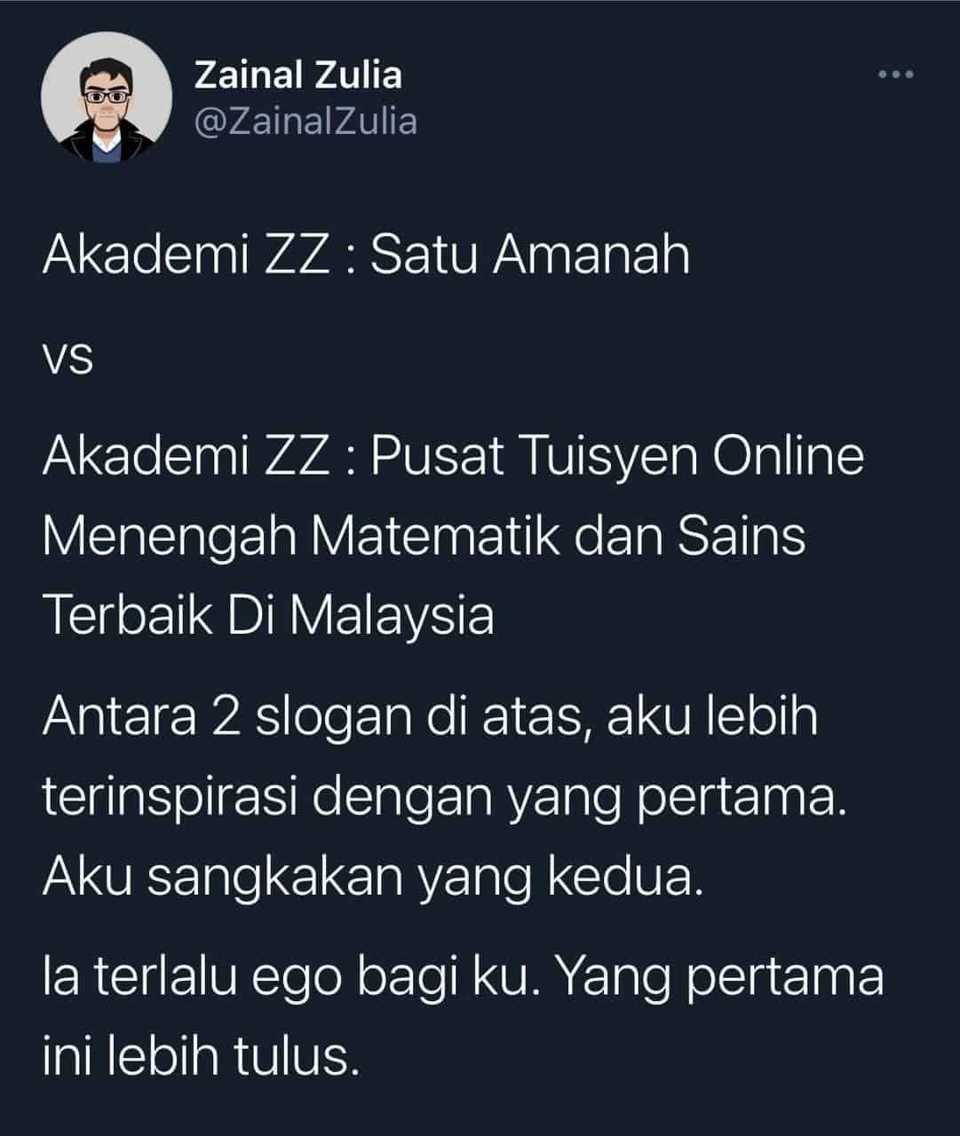 Akademi ZZ : Satu Amanah